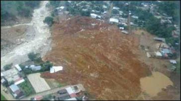 Von Erdrutschen betroffenes Gebiet in Guerrero