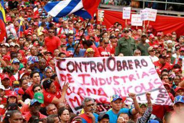 Diana-Arbeiter demonstrieren in Caracas