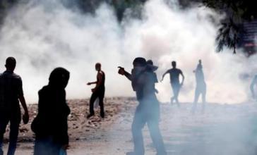 Auseinandersetzungen an einer Blockade in Garzón, Provinz Huila. Hier starb ein Demonstrant