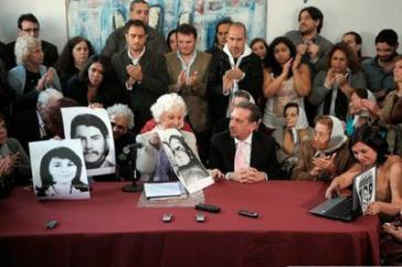 Estela de Carlotto, Sprecherin der Großmütter der Plaza de Mayo, bei der Pressekonferenz am Mittwoch