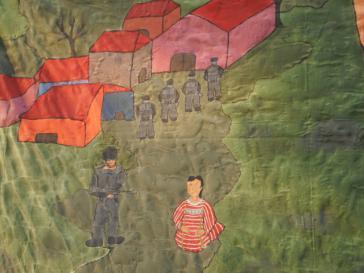 Kinder der Vertriebenenfamilien verarbeiten ihre Erlebnisse in Bildern