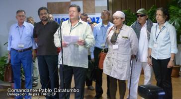 Delegierte der FARC bei den Friedensgesprächen in Havanna