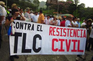 Der diesjährige Agrarstreik in Kolumbien richtete sich auch gegen das Freihandelsabkommen mit den USA