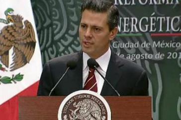 Mexikos Präsident Enrique Peña Nieto am vergangenen Montag im Kongress