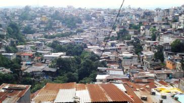 Das Armenviertel La Limonada in der Zone 5 der guatemaltekischen Hauptstadt legt noch immer Zeugnis der Armut und Ungleichheit in Lateinamerika ab