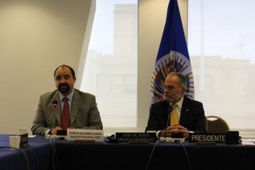 CIDH-Vorsitz: Geschäftsführer Emilio Alvarez (li.) und Präsident José de Jesús Orozco