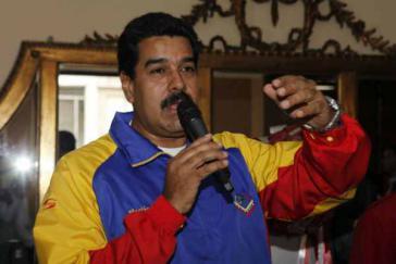 Präsident Maduro am vergangenen Freitag im Nationaltheater in Caracas