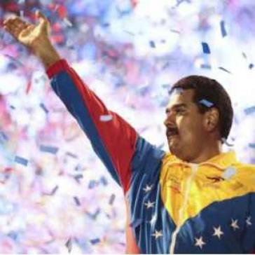 Aus der Wahlkampagne von Nicolás Maduro