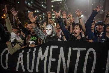 Massendemonstrationen gegen Fahrpreiserhöhungen in São Paulo