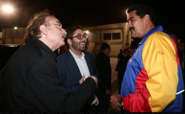 Ignacio Ramonet (li.) mit Nicolás Maduro (re.)