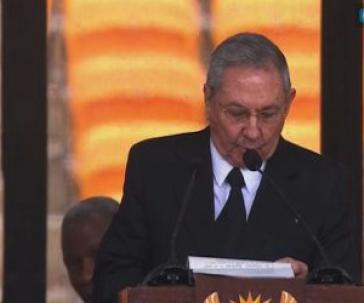 Raúl Castro bei der Trauerfeier für Nelson Mandela in Pretoria