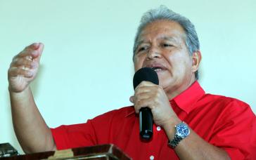 FMLN-Kandidat für die Präsidentschaftswahlen im Februar 2014, Salvador Sánchez Cerén