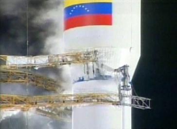 Start des ersten venezolanischen Satelliten 2008