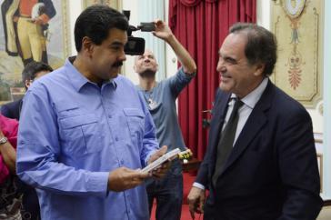 Oliver Stone und Nicolás Maduro