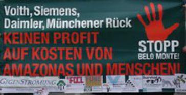 Protest gegen Münchener Rück