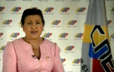 Die Präsidentin der unabhängigen venezolanischen Wahlbehörde (CNE), Tibisay Lucena