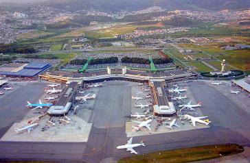 Blick auf den Internationalen Flughafen Sao Paulo/Guarulhos
