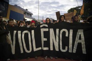 Die Proteste richten sich auch gegen die Polizeigewalt