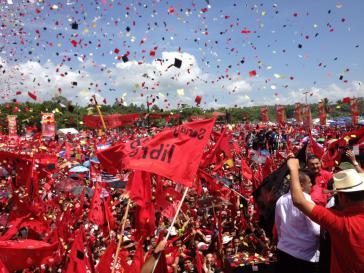 Mobilisierung der Zelaya-Partei LIBRE in Tegucigalpa