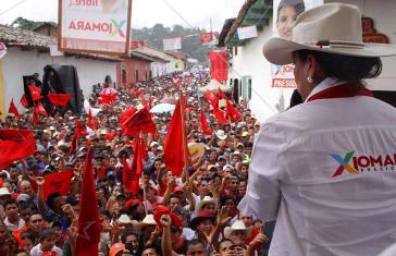 Xiomara Castro bei einer Wahlkampfveranstaltung in Honduras