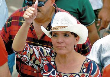 Xiomara Castro de Zelaya tritt für die Linkspartei LIBRE an