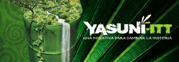 """Logo der Initiative: """"Yasuní-ITT- eine Initiative, um die Geschichte zu ändern"""""""