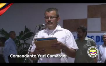 FARC-Kommandant Yuri Camargo am vergangenen Donnerstag in Havanna