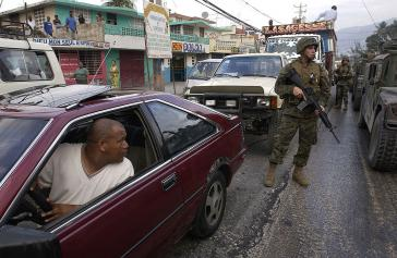 Soldat der UN-Truppe MINUSTAH in Haiti