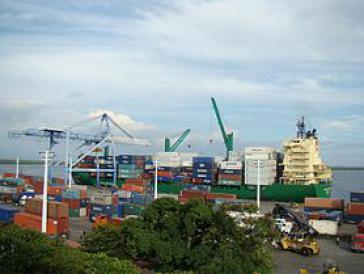 Der Verladehafen von Corinto in Nicaragua