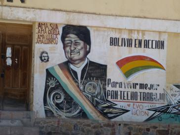 """""""Ein besseres Leben"""" für die Bevölkerungsmehrheit hatte Boliviens Präsident bei Amtsantritt 2006 versprochen"""