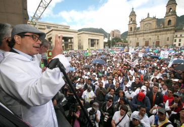 Der Bürgermeister von Bogotá, Gustavo Petro
