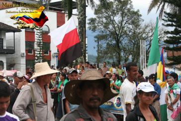 Mobilisierung der Marcha Patriótica im Bundesstaat Putumayo am 20. Juli 2013