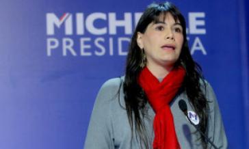 Javiera Blanco informierte die Hafenarbeiter über das Versagen der abgetretenen Regierung