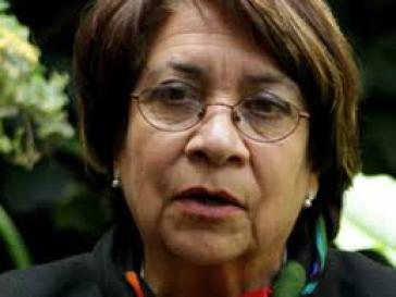 Die Präsidentschaftskandidatin der Unión Patriótica, Aida Avella
