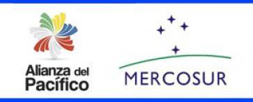 Logos der Pazifik-Allianz und des Mercosur