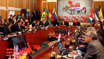 ALBA-Konferenz in einem Archivbild des lateinamerikanischen TV-Senders Telesur