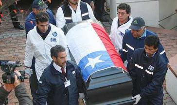 Allendes Überreste waren am 23. Mai 2011 exhumiert worden