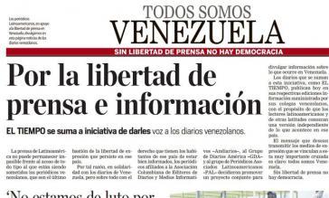 """Titelbild zum Start der Kampagne """"Wir alle sind Venezuela"""""""