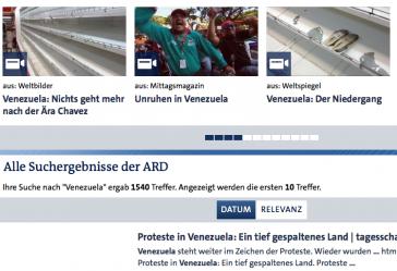 """ARD-Blick auf Venezuela: """"Unruhen"""", """"Niedergang"""", """"Spaltung"""", """"Nichts geht mehr"""""""