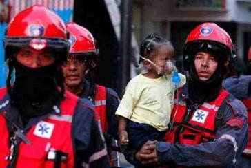 Evakuierung der Kinder aus der Vorschuleinrichtung