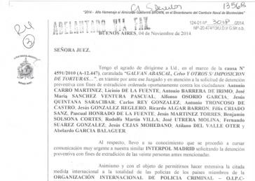 Auslieferungsgesuch der argentinischen Behörden