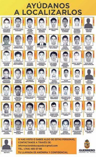Bilder der verschwunden Studenten