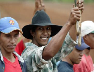 Organisierte Bauern im Bundesstaat Apure