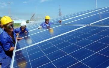 Der Cantarrana Solarpark nahe Cienfuegos