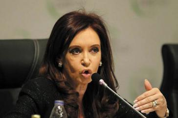 Argentiniens Präsidentin Christina Fernández