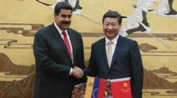Präsident von Venezuela Nicolás Maduro und Präsident von China Xi Jinping