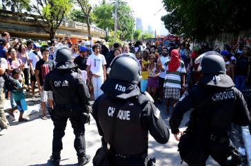 Militärpolizei im Einsatz gegen die Besetzer am Dienstagmorgen