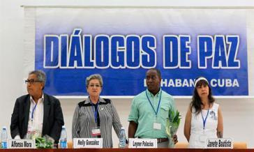 Vertreter der Opfer am Verhandlungstisch der Friedensgespräche zwischen FARC und kolumbianischer Regierung