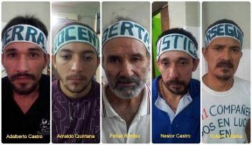 Die fünf Hungerstreikenden