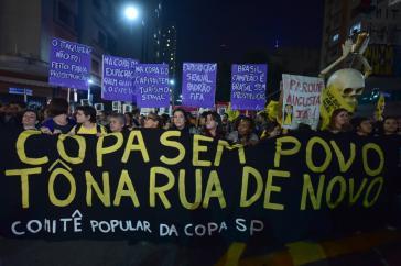 Proteste gegen die Fußball-Weltmeisterschaft in Sao Paulo